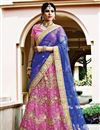 image of Exemplary Pink Color Wedding Wear Net Fabric Embroidered Lehenga Choli