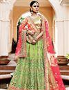 image of Tempting Green Color Wedding Wear Net Lehenga Choli
