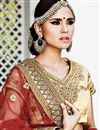 photo of Exemplary Red Color Wedding Wear Net Fabric Embroidered Lehenga Choli