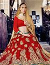 photo of Stylish Red Color Designer Embroidered Lehenga Choli In Net Fabric