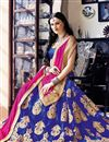 photo of Superb Designer Embroidered Net Lehenga Choli In Blue Color