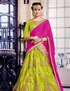 image of Tempting Green Color Embroidered Party Wear Lehenga Choli In Net Fabric