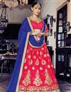 image of Splendid Pink Color Party Wear Designer Net Lehenga Choli With Embroidery Work