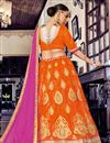 photo of Splendid Orange Color Party Wear Designer Net Lehenga Choli With Embroidery Work