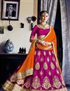 image of Stylish Pink Color Designer Party Wear Embroidered Lehenga Choli In Net Fabric