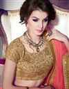 photo of Chiffon Designer Party Wear Saree With Border Work In Pink Color