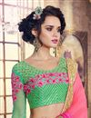 photo of Pink Color Festive Wear Georgette Saree With Embroidery Work