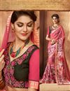 photo of Fascinating Georgette Printed Saree In Pink Color