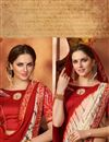 photo of Mesmerizing Red Color Party Wear Saree In Georgette Fabric