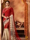image of Mesmerizing Red Color Party Wear Saree In Georgette Fabric