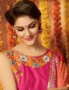 photo of Stunning Peach Color Printed Saree In Georgette Fabric