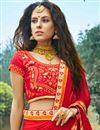 photo of Yellow Color Wedding Wear Jacquard Lehenga Choli With Embroidery Work