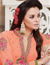 photo of Tempting Peach Color Designer Party Wear Georgette Salwar Kameez