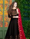 image of Embroidered Floor Length Georgette Anarkali Suit