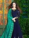 image of Fancy Embroidered Georgette Designer Long Anarkali Dress