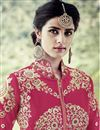 photo of Embroidered Work Georgette Party Wear Anarkali Suit With Front Slit