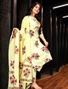 photo of Exclusive Yellow Printed Readymade Palazzo Suit