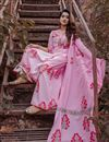 photo of Exclusive Pink Mughal Butta Block Print Readymade Suit