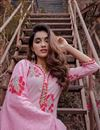 picture of Exclusive Pink Mughal Butta Block Print Readymade Suit
