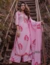 image of Exclusive Pink Mughal Butta Block Print Readymade Suit