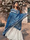 photo of Exclusive White Color Readymade Kurta With Indigo Dupatta