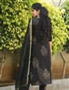 photo of Exclusive Block Printed Black Color Designer Suit