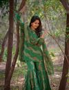 photo of Festive Special Exclusive Dark Green Designer Sharara Suit