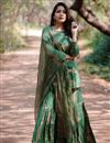 image of Festive Special Exclusive Dark Green Designer Sharara Suit