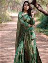 image of Exclusive Dark Green Designer Sharara Suit