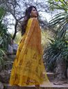 photo of Exclusive Yellow Floral Kurta With Dupatta