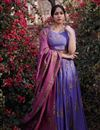 image of Exclusive Purple Color Readymade Lehenga Set With Dupatta