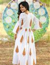 photo of Exclusive White Color Tree Printed Readymade Kurti