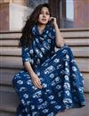 photo of Exclusive Navy Blue Printed Readymade Kurti