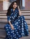 photo of Exclusive Navy Blue Printed Readymade Kurti