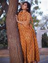 photo of Exclusive Printed Orange Color Readymade Kurti