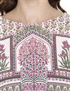 picture of Daily Wear Printed Pink Kurti In Crepe Fabric