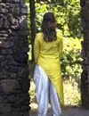 picture of Exclusive Mustard Asymmetric Kurti With Dhoti