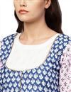 picture of Exclusive White Flared Cotton Fabric Kurti With Jacket