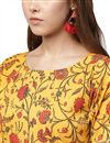 picture of Exclusive Yellow Color Designer Kurti In Crepe Fabric