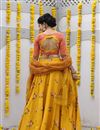 photo of Exclusive Printed Occasion Wear Lehenga In Cotton Fabric Yellow Color