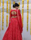 photo of Exclusive Cotton Fabric Designer Printed Lehenga Choli In Red Color With Alluring Blouse