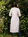 photo of Exclusive White Color Round Neck Embroidered Kurta With Bottom