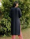 photo of Exclusive Navy Blue Color Round Neck Embroidered Kurta With Bottom