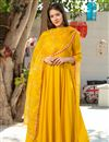 image of Exclusive Readymade Yellow Color Kurti With Dupatta