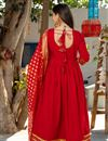 photo of Exclusive Readymade Royal Red Color Kurti With Chanderi Dupatta