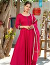 image of Exclusive Readymade Rani Color Kurti With Doria Dupatta