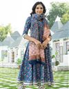 photo of Exclusive Blue Color Kurta Set With Dupatta In Cotton Fabric