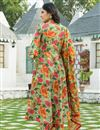 photo of Exclusive Green Color Printed Kurta Set With Dupatta In Cotton Fabric