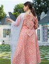 photo of Exclusive Peach Color Plus Size Elegant Print Kurta Set With Dupatta