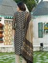 photo of Exclusive Black Color Plus Size Bagru Block Print Chanderi Kurta Dupatta Set
